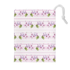 Floral Pattern Drawstring Pouches (extra Large) by SuperPatterns