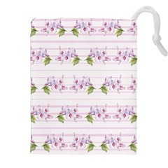 Floral Pattern Drawstring Pouches (xxl) by SuperPatterns