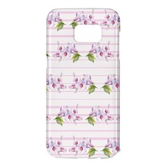 Floral Pattern Samsung Galaxy S7 Edge Hardshell Case by SuperPatterns