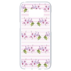 Floral Pattern Samsung Galaxy S8 White Seamless Case by SuperPatterns