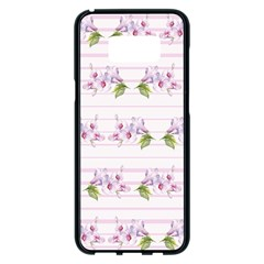 Floral Pattern Samsung Galaxy S8 Plus Black Seamless Case by SuperPatterns