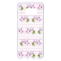 Floral Pattern Samsung Galaxy S8 Plus White Seamless Case by SuperPatterns
