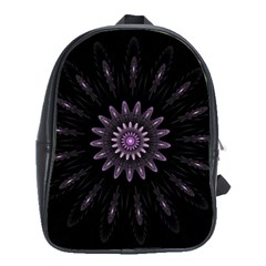 Fractal Mandala Delicate Pattern School Bag (large) by Celenk