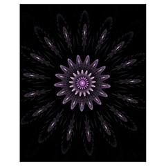 Fractal Mandala Delicate Pattern Drawstring Bag (small) by Celenk