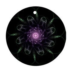 Mandala Fractal Light Light Fractal Ornament (round) by Celenk