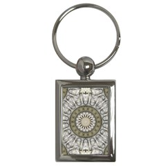 Mandala Sand Color Seamless Tile Key Chains (rectangle)  by Celenk