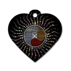 Whole Complete Human Qualities Dog Tag Heart (one Side) by Celenk