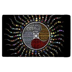 Whole Complete Human Qualities Apple Ipad 3/4 Flip Case by Celenk
