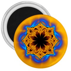 Digital Art Fractal Artwork Flower 3  Magnets by Celenk