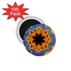 Digital Art Fractal Artwork Flower 1 75  Magnets (100 Pack)  by Celenk