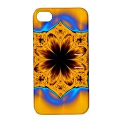 Digital Art Fractal Artwork Flower Apple Iphone 4/4s Hardshell Case With Stand by Celenk