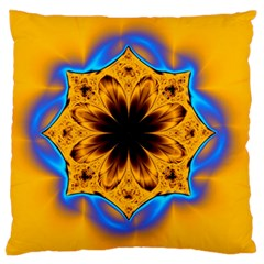 Digital Art Fractal Artwork Flower Large Flano Cushion Case (two Sides) by Celenk