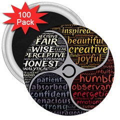 Person Character Characteristics 3  Magnets (100 Pack) by Celenk