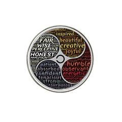 Person Character Characteristics Hat Clip Ball Marker (4 Pack) by Celenk
