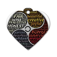Person Character Characteristics Dog Tag Heart (one Side) by Celenk
