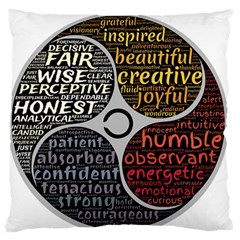 Person Character Characteristics Standard Flano Cushion Case (two Sides) by Celenk