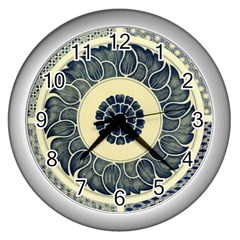 Background Vintage Japanese Wall Clocks (silver)  by Celenk