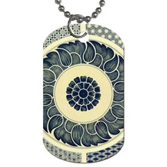 Background Vintage Japanese Dog Tag (one Side) by Celenk