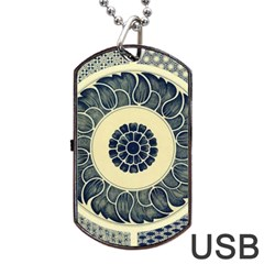 Background Vintage Japanese Dog Tag Usb Flash (two Sides) by Celenk