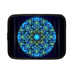 Mandala Blue Abstract Circle Netbook Case (small)  by Celenk