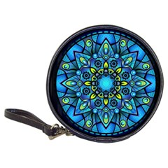Mandala Blue Abstract Circle Classic 20 Cd Wallets by Celenk
