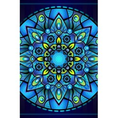 Mandala Blue Abstract Circle 5 5  X 8 5  Notebooks by Celenk