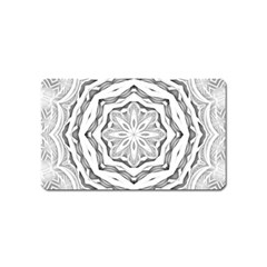 Mandala Pattern Floral Magnet (name Card) by Celenk
