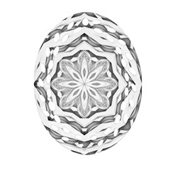 Mandala Pattern Floral Ornament (oval Filigree) by Celenk