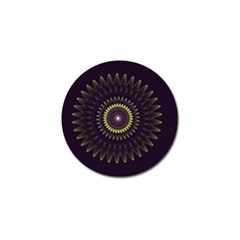 Fractal Purple Mandala Violet Golf Ball Marker (4 Pack) by Celenk