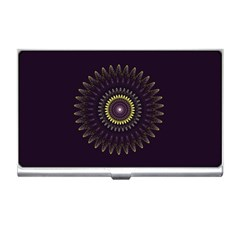 Fractal Purple Mandala Violet Business Card Holders by Celenk