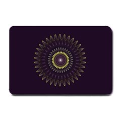 Fractal Purple Mandala Violet Small Doormat  by Celenk