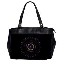 Fractal Purple Mandala Violet Office Handbags by Celenk