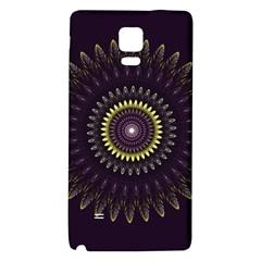 Fractal Purple Mandala Violet Galaxy Note 4 Back Case by Celenk