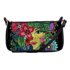 Mandala Figure Nature Girl Shoulder Clutch Bags by Celenk