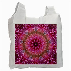 Flower Mandala Art Pink Abstract Recycle Bag (two Side)  by Celenk