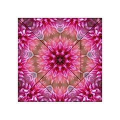 Flower Mandala Art Pink Abstract Acrylic Tangram Puzzle (4  X 4 ) by Celenk