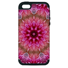 Flower Mandala Art Pink Abstract Apple Iphone 5 Hardshell Case (pc+silicone) by Celenk