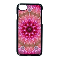Flower Mandala Art Pink Abstract Apple Iphone 7 Seamless Case (black)