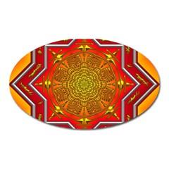 Mandala Zen Meditation Spiritual Oval Magnet by Celenk