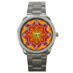 Mandala Zen Meditation Spiritual Sport Metal Watch by Celenk