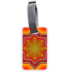 Mandala Zen Meditation Spiritual Luggage Tags (one Side)  by Celenk