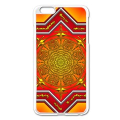 Mandala Zen Meditation Spiritual Apple Iphone 6 Plus/6s Plus Enamel White Case by Celenk