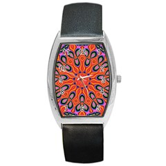Abstract Art Abstract Background Barrel Style Metal Watch by Celenk