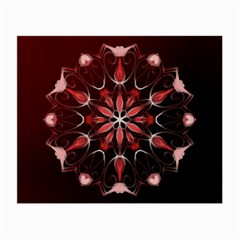 Mandala Red Bright Kaleidoscope Small Glasses Cloth by Celenk
