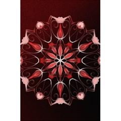 Mandala Red Bright Kaleidoscope 5 5  X 8 5  Notebooks by Celenk