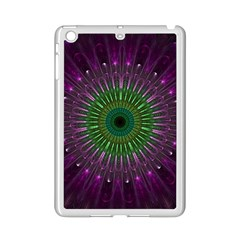 Purple Mandala Fractal Glass Ipad Mini 2 Enamel Coated Cases by Celenk