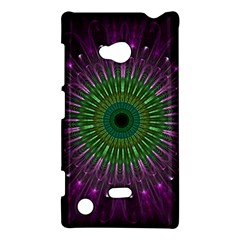 Purple Mandala Fractal Glass Nokia Lumia 720 by Celenk