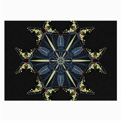 Mandala Butterfly Concentration Large Glasses Cloth by Celenk