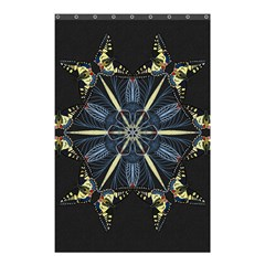 Mandala Butterfly Concentration Shower Curtain 48  X 72  (small)