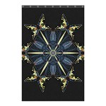 Mandala Butterfly Concentration Shower Curtain 48  x 72  (Small)  42.18 x64.8 Curtain